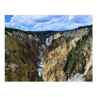 Caídas más bajas de Yellowstone Tarjetas Postales