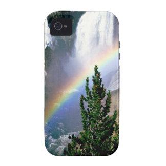 Caídas más bajas Yellowstone del arco iris Case-Mate iPhone 4 Carcasa