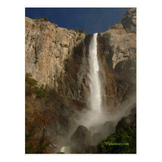 Caídas nupciales del velo, Yosemite Tarjeta Postal