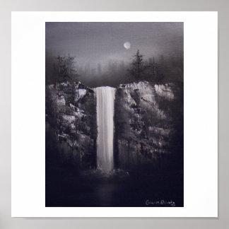 Caídas por claro de luna impresiones