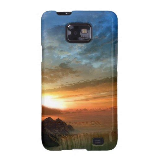 Caídas Sunlit de la herradura del cielo de la natu Samsung Galaxy S2 Carcasa