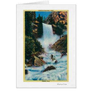 Caídas vernales en YosemiteYosemite, CA Tarjeton