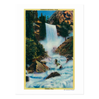 Caídas vernales en YosemiteYosemite, CA Postal