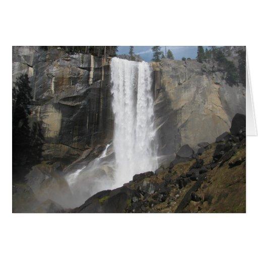 Caídas vernales Yosemite Tarjetón