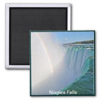 Caídas y arco iris de la herradura de Niagara Imán Cuadrado