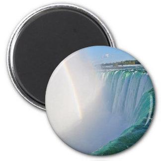 Caídas y arco iris de la herradura de Niagara Imán Redondo 5 Cm