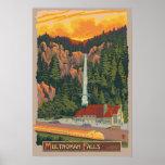 Caídas y casa de campo, poster de Multnomah del vi