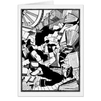 Caído entre los libros tarjeton