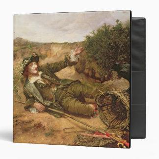 """Caído por el borde del camino, 1886 (aceite en carpeta 1 1/2"""""""