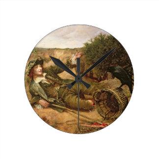 Caído por el borde del camino, 1886 (aceite en lon reloj de pared