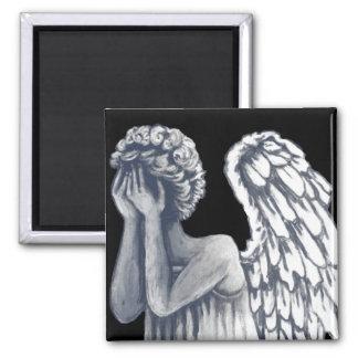 Caído, productos del arte del ángel imán cuadrado