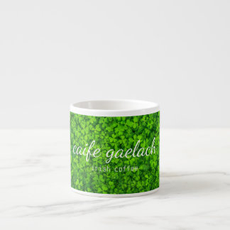 Caife Gaelach Irish Coffee Typography Shamrock Mug