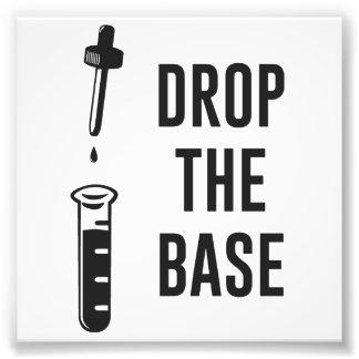 Caiga la base baja de la química cojinete