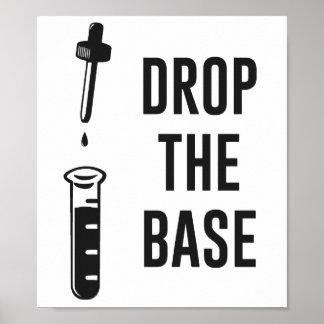 Caiga la base baja de la química póster