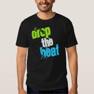 caiga la camiseta negra inspirada DJ del golpe Playeras