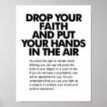 Caiga su poster de la fe