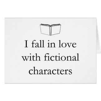Caigo en amor con los caracteres ficticios tarjeta pequeña