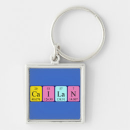 Cailan periodic table name keyring