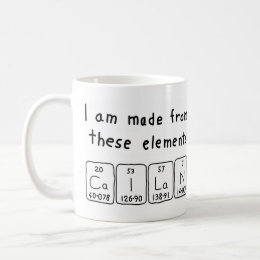 Cailan periodic table name mug