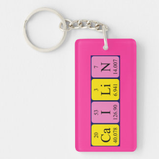 Cailin periodic table name keyring keychain