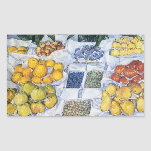 Caillebotte: Fruit Displayed on a Stand Rectangular Sticker
