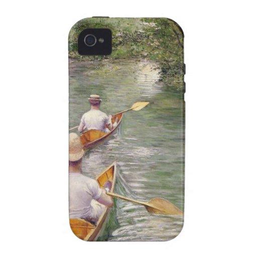 Caillebotte: Las canoas iPhone 4 Fundas