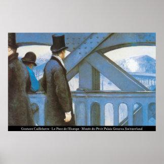 Caillebotte - Le Pont de l'Europe Posters