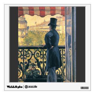 Caillebotte-Man en un balcón bulevar de Gustavo