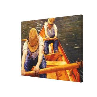 Caillebotte - Oarsmen Canvas Print