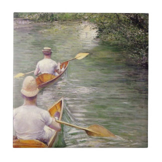Caillebotte: The Canoes Ceramic Tile