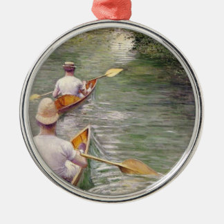 Caillebotte: The Canoes Metal Ornament