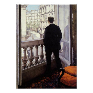 Caillebotte - Young Man at his Window Poster
