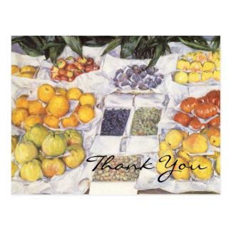 Caillebotte's Fruit Stand Postcard