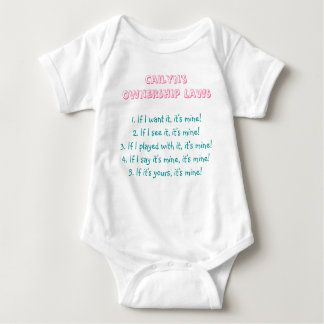 Cailyn's Ownership Laws Baby Bodysuit