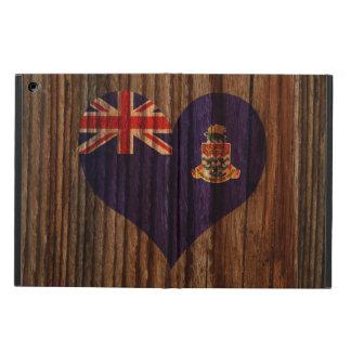 Caimán+Corazón de la bandera de las islas en el