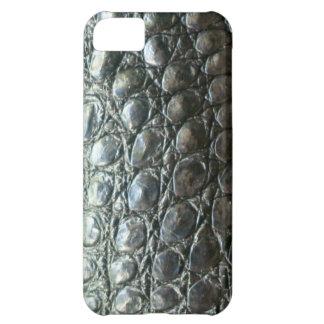 Caiman Crocodile Faux Alligator-Skin Design Case For iPhone 5C