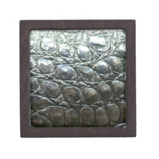 Caiman Crocodile Faux Alligator-Skin Design Keepsake Box