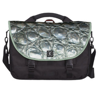 Caiman Crocodile Faux Alligator-Skin Design Bags For Laptop