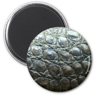 Caiman Crocodile Faux Alligator-Skin Design Fridge Magnet