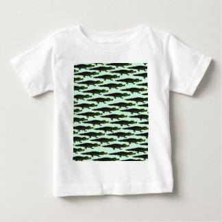 Caiman Pattern in green.png Baby T-Shirt