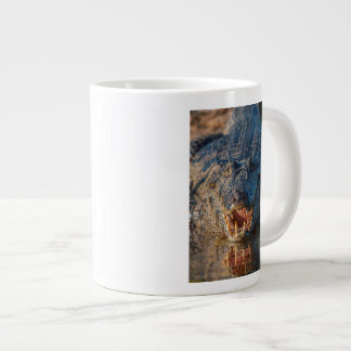Caiman shows its teeth, Brazil Large Coffee Mug