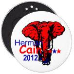 Cain 2012 pinback button