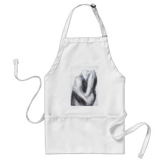Cain and Abel 2(abstract surrealism) Adult Apron