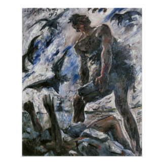 Cain by Lovis Corinth Poster