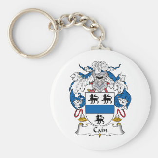 Cain Family Crest Basic Round Button Keychain