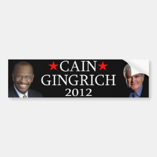 Cain/Gingrich Bumper Sticker