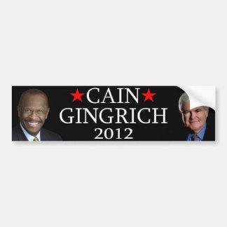 Caín/Gingrich Etiqueta De Parachoque