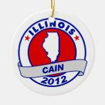 Cain - Illinois Christmas Ornament