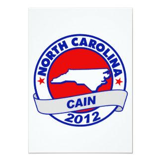 Cain - North Carolina Personalized Invitation