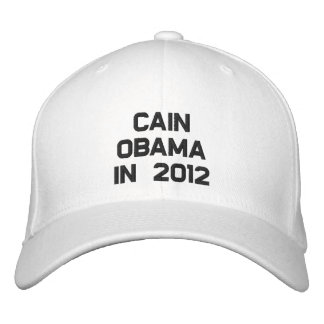 CAIN OBAMA IN 2012 EMBROIDERED BASEBALL HAT